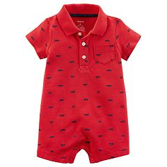 Baby Boy Carter's Cars Pocket Polo Romper