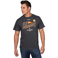 Men's Majestic Houston Astros 2017 American League Champs Locker Room Tee