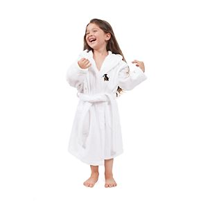 Kids Linum Home Textiles Scottie Dog Holiday Embroidered Hooded Bathrobe