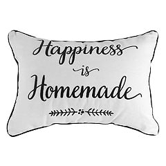 ''Happiness is Homemade'' Oblong Throw Pillow