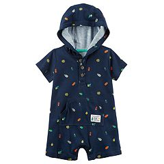 Baby Boy Carter's Bugs Hooded Romper