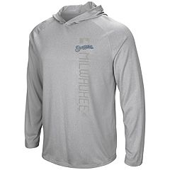 Men's Majestic Milwaukee Brewers Authentic Collection Hoodie Tee
