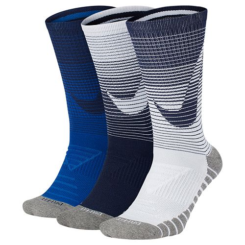 1dd97cbbbc4c7 Men's Nike 3-pack Dry Cushioned Performance Crew Socks