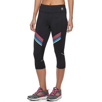 Women's FILA SPORT® Striped Mesh Capri Leggings