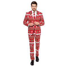 Men's OppoSuits Slim-Fit Winter Wonderland Novelty Suit & Tie Set