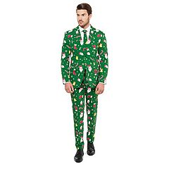 Men's OppoSuits Slim-Fit Santaboss Novelty Suit & Tie Set