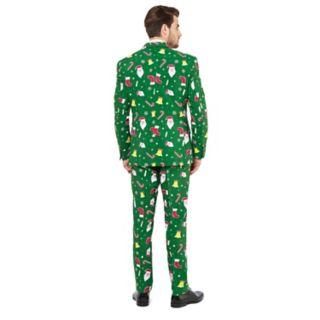Men's OppoSuits Slim-Fit Santaboss Novelty Suit & Tie Set