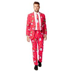 Men's OppoSuits Slim-Fit Christmaster Novelty Suit & Tie Set