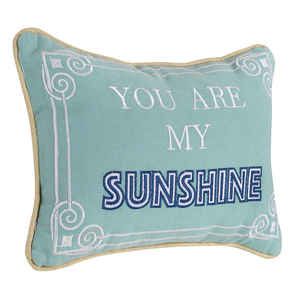 ''You are My Sunshine'' Mini Oblong Throw Pillow