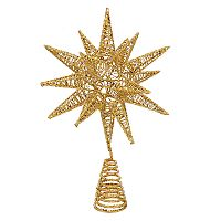 Kurt Adler Shimmer Star Christmas Tree Topper