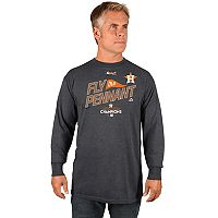 Men's Majestic Houston Astros 2017 American League Champs Locker Room Long Sleeve Tee