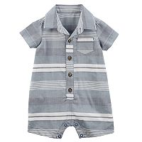 Baby Boy Carter's Striped Woven Romper