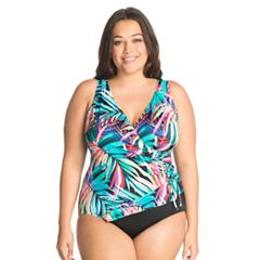 Plus Size Great Lengths Tummy Slimmer Ruffle One-Piece Swimsuit
