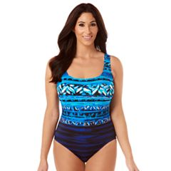 Women's Great Lengths Tummy Slimmer X-Back One-Piece Swimsuit