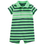 Baby Boy Carter's Striped Polo Romper