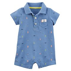 Baby Boy Carter's Nautical Polo Romper