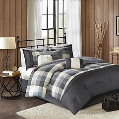 Madison Park Pioneer 7 pc Plaid Comforter Set