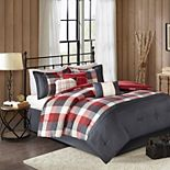 Madison Park Pioneer 7-piece Plaid Comforter Set with Coordinating Pillows