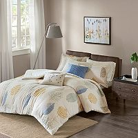 Madison Park Lina 7 pc Flannel Comforter Set
