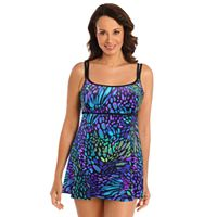 Women's Great Lengths Tummy Slimmer Empire Swimdress