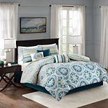 Madison Park Delta 7-piece Printed Comforter Set