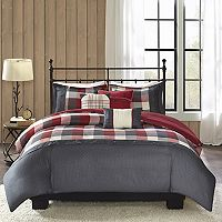 Madison Park Pioneer 6 pc Plaid Duvet Cover Set