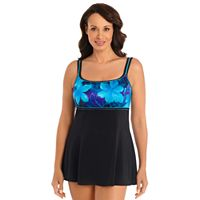Women's Great Lengths Tummy Slimmer Printed Empire Swimdress