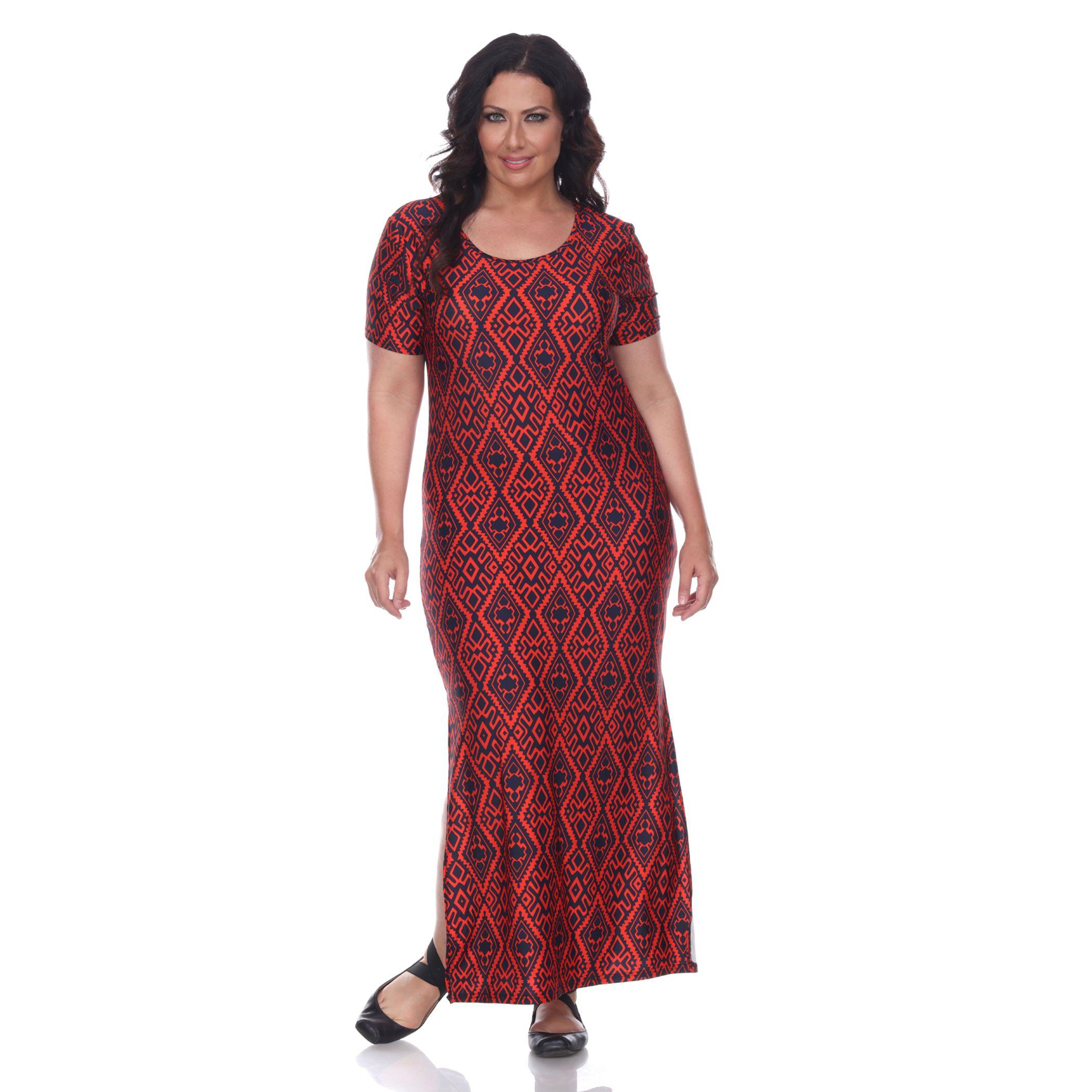 Plus size surplice maxi dress