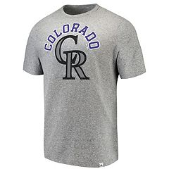 Men's Majestic Colorado Rockies Stand Up Tee