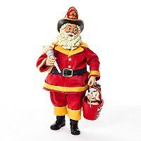 Kurt Adler Fireman Santa Christmas Table Decor