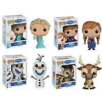 Funko POP! Disney's Frozen Vinyl Set: Anna, Elsa, Olaf, Sven
