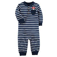 Baby Boy Carter's Striped Fire Hat Dog Coverall