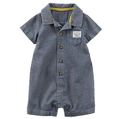 Baby Boy Carter's Chambray Buttoned Romper