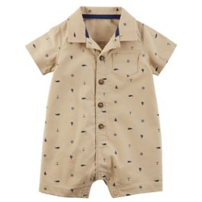 Baby Boy Carter's Whale & Anchor Buttoned Romper