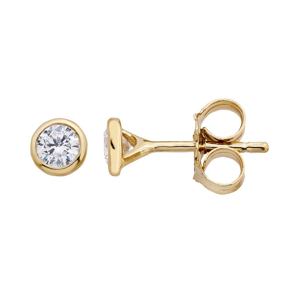 10k Gold 1/10 Carat T.W. Diamond Stud Earrings