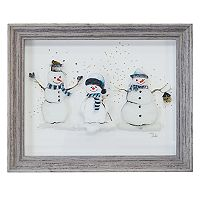 New View Snowmen Framed Wall Art