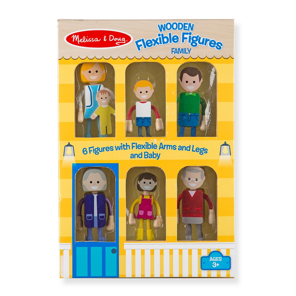 Melissa & Doug Wooden Flexible Figures Family Set