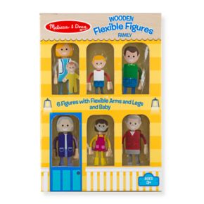Melissa & Doug Wooden Flexible Figures Family Set