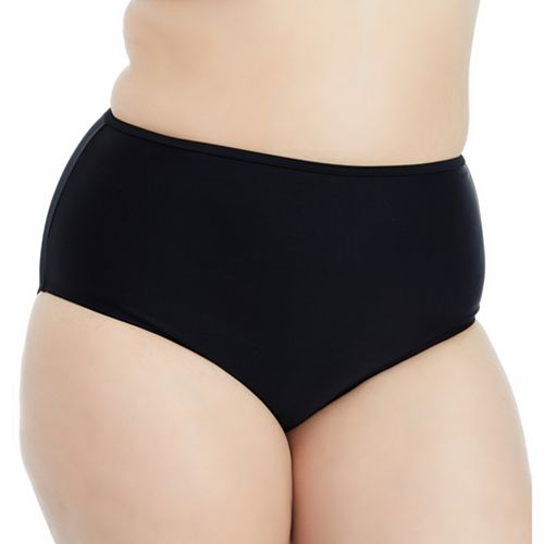 555c8006e2ac8 Plus Size Island Soul Curve Strappy Back High-Waisted Bikini Bottoms
