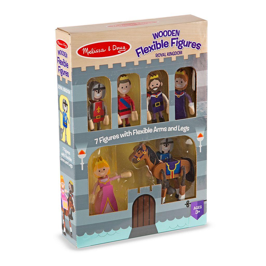 Melissa & Doug Wooden Flexible Figures Royal Kingdom Set