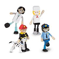 Melissa & Doug Wooden Flexible Figures Careers Set