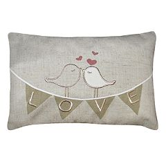 Spencer Home Decor ''Love'' Banner Mini Oblong Throw Pillow