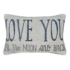 Spencer Home Decor ''Love You to the Moon and Back'' Mini Throw Pillow