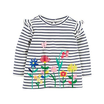Baby Girl Carter's Floral Striped Tunic