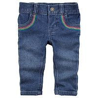 Baby Girl Carter's Rainbow-Pocket Jeans