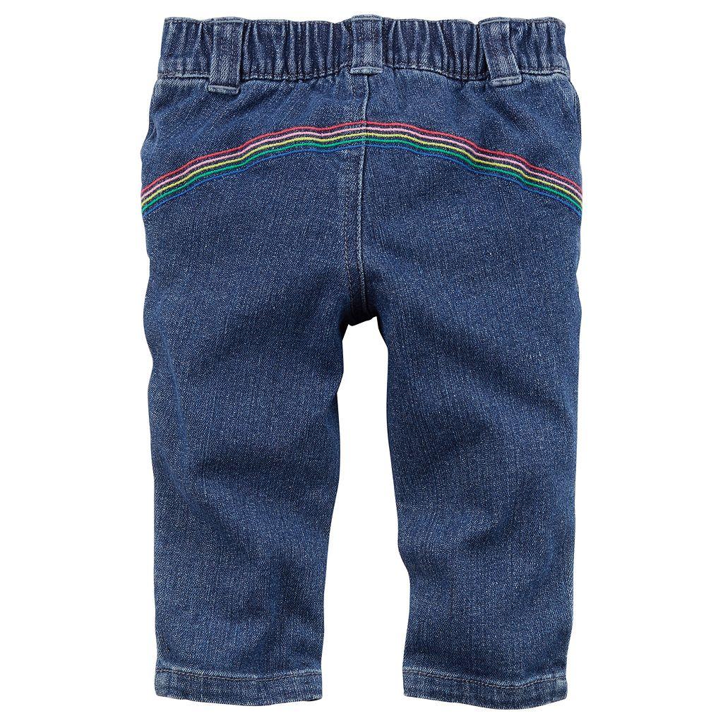 Baby Girl Carter's Rainbow-Pocket Jeans