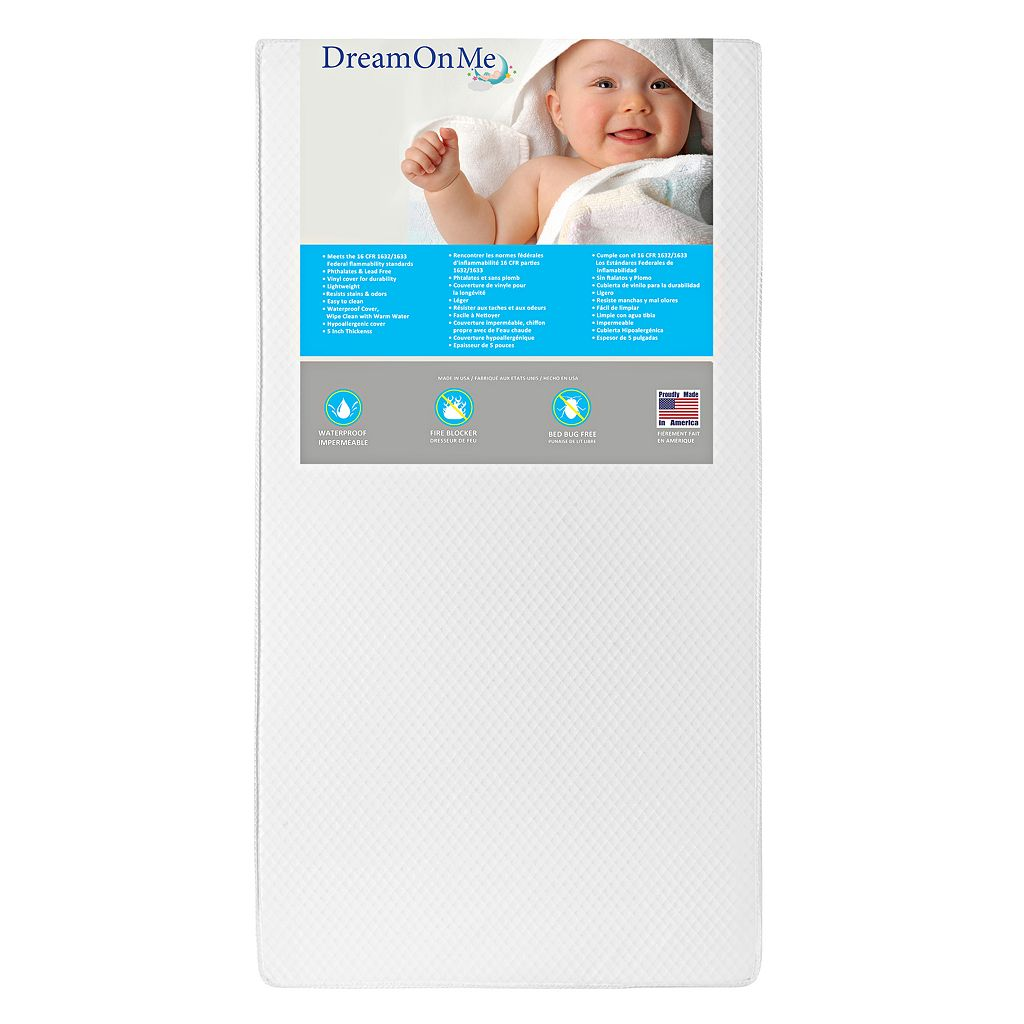 """Dream On Me Lavender Breathable 6"""" Core Crib & Toddler Bed Mattress"""