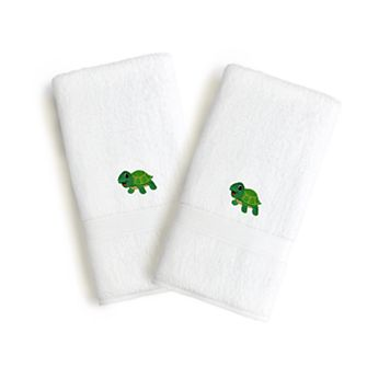 Kids Linum Home Textiles Turtle Embroidered 2-pack Hand Towels