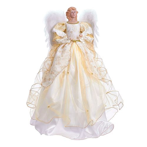 Kurt Adler Ivory Angel Christmas Tree Topper