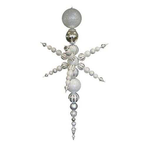 76-in. White Shatterproof Snowflake Christmas Ornament